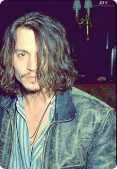johnny depp long hair - Google Search