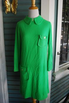 Vintage lime green retro long sleeved by CerealVintageThrift, $13.00