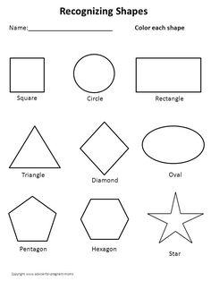 math worksheet : shapes  pentagon hexagon heptagon octagon nonagon decagon  : Shape Worksheets For Kindergarten