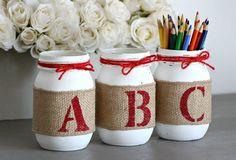 Teacher Appreciation Gift-Teacher Gift-Gift for Teacher-Teacher Pencil Pen Holder-Teacher Desk Organizer-Classroom Decoration-ABC Baby Decor