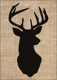 Laser Cut Crafting/Art Template    Rustic Deer Head Silhouette    Country Cabin/Lodge Decor Stencil    Great for quilting, drawing,