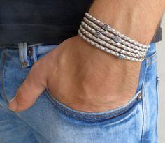 Men's Bracelet Men's Geometric Bracelet Men's Gray by Galismens
