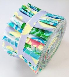 "Passion Flowers Jelly Roll 21 Fabric Quilting 2.5"" Strips Cotton Quilt Stash"