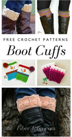 Crochet Gift Patterns 13 Free Boot Cuff Patterns for Crochet. Boot Cuffs aka Leg Warmers or Boot Toppers are THE boot accessory! We have many crochet patterns for hats, scarves, gloves and more for crochet and knitting Crochet Boot Cuff Pattern, Knitted Boot Cuffs, Crochet Boots, Crochet Beanie, Crochet Headbands, Knit Headband, Crochet Gloves, Crotchet, Baby Headbands