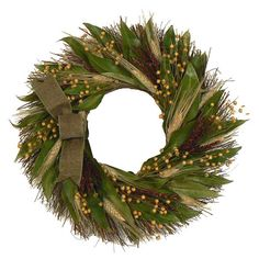 Harvest Wreath at Joss & Main Christmas Colors, Winter Christmas, Fall Wreaths, Christmas Wreaths, Outdoor Thanksgiving, Rough Wood, Happy Fall Y'all, Faux Flowers, Joss And Main