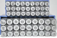 3MM Italic Font Metal Stamp Combination Letter by TheSupplyGuy, $66.00