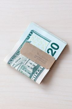 Blue Button Shop - Tiny Metal Money Clip - Brass - TIN15NWALUBRS103144