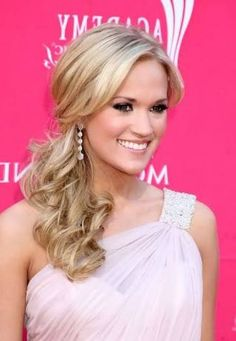 Image result for best hair style to go with off the shoulder dress