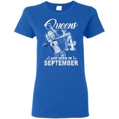 Queens Are Born In September - Los Angeles Dodgers Baseball T shirt Hoodie Sweater