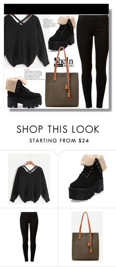 """Shein"" by clumsy-dreamer ❤ liked on Polyvore featuring Dorothy Perkins and WithChic"