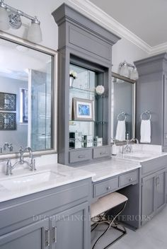 Bathroom designs by Decorating Den Interiors. Want this look? Call The Landry Team to set up your FREE consultation 817-472-0067. Visit our website http://thelandryteam.decoratingden.com/ #Bathroom #Design #Home