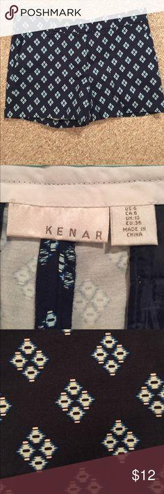 Kenar shorts Patterned Kenar shorts size 6. Never worn. Kenar Shorts