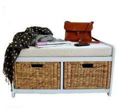 White Bench With Storage Baskets , http://www.amazon.co.uk/dp/B00F48DFDC/ref=cm_sw_r_pi_dp_4u4Dsb18QGMJF
