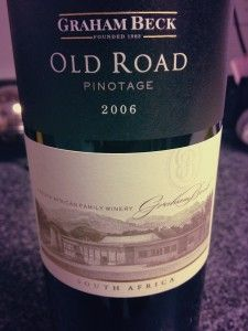 "old road pinotage graham beck #wine - should try for no other reason than it is a ""beck"""