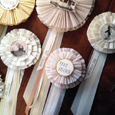 beautiful heirloom prize ribbon kit to download, print & put together with your own personal touches