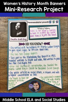 Are you looking for a meaningful Women's History Month activity that will not only let your students have fun and show their creativity, but also requires them to conduct research and think critically? Look no further than the Women's History Month Banners: Mini Research Project! This project contains over 30 pages of instructional materials that will help guide teachers and students through this activity.