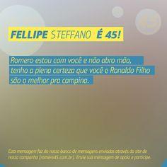 #MensagemPorAmorACampina enviada através do site http://romero45.com.br/ Obrigado pela confiança, Fellipe.