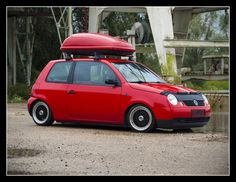 Red Volkswagen Lupo