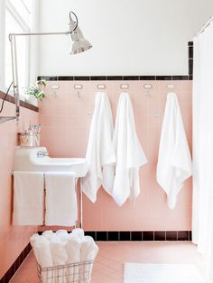 Reasons to Love Retro Pink-Tiled Bathrooms >> http://www.hgtv.com/design-blog/design/saving-the-pink-bathrooms-with-pam-kueber?soc=pinterest