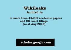 WikiLeaks is cited in more than academic papers and US court filings (as at Aug Let It Be, Education, Paper, Books, Libros, Book, Onderwijs, Book Illustrations, Learning
