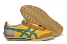 Mens California 78 Vin Shoes Onitsuka Tiger Yellow Green