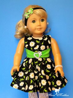 1930s Daisy Black American Girl Doll Dress by Bestdollboutique, $18.00