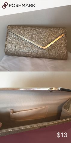 aa11c2b3592 Sparkly clutch Silvery/champagne sparkly clutch. Never used it!!! Perfect  for