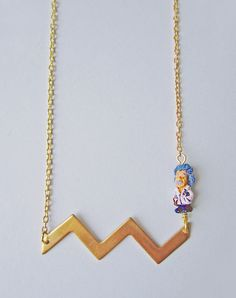 You're On My Wavelength Einstein Necklace — Eclectic Eccentricity Vintage Jewellery
