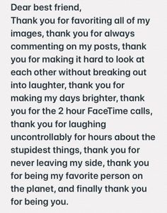 Vsco - friend quotes for girls, my best friend quotes, love my best Words For Best Friend, Letter To Best Friend, Best Friend Texts, Message For Best Friend, Happy Birthday Best Friend Quotes, Best Friend Messages, Best Friendship Quotes, Bff Quotes, Bffs