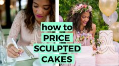 How to Price your Sculpted Cakes — Cake & Success Fondant Flower Cake, Fondant Bow, Fondant Cakes, Chocolate Fondant, Modeling Chocolate, Cake Serving Guide, Easy Minecraft Cake, Fondant Figures Tutorial, Cake Pricing