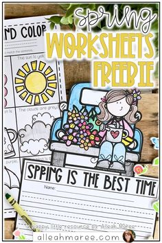 Looking for engaging activities for your little learners this spring? These printables are perfect for kindergarten, first, or even second grade students to work on basic reading, writing, and math skills. Click the pin to get your free spring activities!