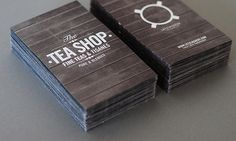 Tea Shop business cards