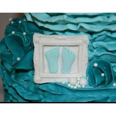 Gumpaste frame with little boys feet! Baby shower cake in Tiffany blue. Baby Shower Treats, Baby Shower Cakes, Gum Paste, Tiffany Blue, Cake Ideas, Babys, Shower Ideas, Frame, Cakes Baby Showers