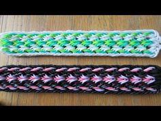 Hook Only- Couler Bracelet (Original Design) Rainbow Loom Tutorials, Rainbow Loom Patterns, Rainbow Loom Creations, Loom Band Bracelets, Rubber Band Bracelet, Bracelet Crafts, Summer Bracelets, Rainbow Loom Bands, Rainbow Loom Charms