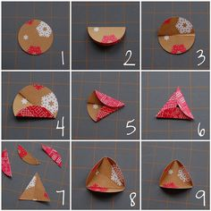 Paper ball ornament -how to make the template to mark the triangular folded tabs for each circle.