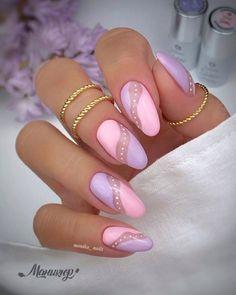 Elegant Nails, Stylish Nails, Trendy Nails, Cute Nails, Almond Shape Nails, Almond Acrylic Nails, Best Acrylic Nails, Yellow Nails, Pink Nails