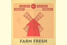Check out Poster for Organic Farm Food by elfivetrov on Creative Market