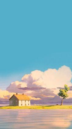 Image result for ghibli skies