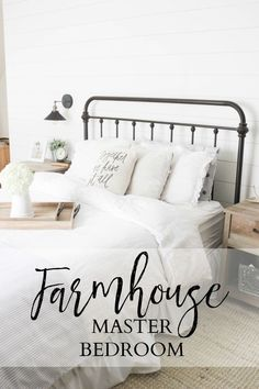 Our #Farmhouse Master Bedroom update with @raymourflanigan! Its ALL about the details! AD
