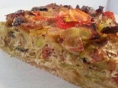 Preitaart met spek en champignons Paleo, Quiche Lorraine, Slow Cooker, Dinner Recipes, Good Food, Brunch, Breakfast, Quiches, Ovens