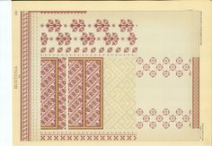 CUSATURI ROMANESTI - Elisa I. Bratianu -073 Palestinian Embroidery, Traditional Outfits, Folk Art, Stitch Patterns, Diy And Crafts, Cross Stitch, Diagram, Sewing, Knitting