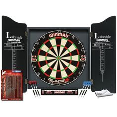 Shop Winmau Lakeside World Championship Edition Dart Set. Free delivery and returns on all eligible orders. Professional Darts, Dart Board Cabinet, Dart Set, Buy Electronics, Quality Cabinets, Construction Party, Black Cabinets, 2 Set