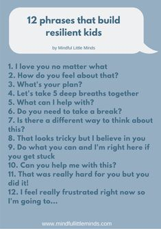 12 phrases recommended by a child psychologist that will help you build your child's emotional resilience! What Is Resilience, Emotional Resilience, Emotional Intelligence, Gentle Parenting, Parenting Advice, Conscious Parenting, Frijoles, Coping Skills, Raising Kids