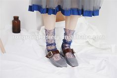 Wholesale Sweet Girls Fluffy Socks With Ruffles Sexy Lace Frilly Socks
