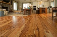 Old Florida, Wood Flooring, Goodwin Company - from local hurricane damaged old-growth forests.  Have more frequent and larger knots and less dense grain than heart pine that was cut 100 yrs ago for a more cassual look.