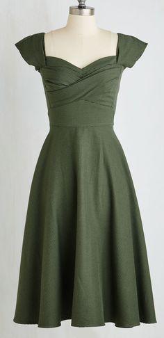 Retro Olive dress