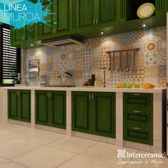 Interceramic is a world leader in Ceramic, Porcelain and Natural Stone tiles used in floor and wall applications. Kitchen Interior, Interior Design Living Room, Living Room Designs, Kitchen Decor, Kitchen Design, Dirty Kitchen, Green Kitchen, Murcia, Finding A House