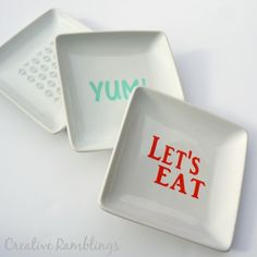 stenciled serving plate gift set