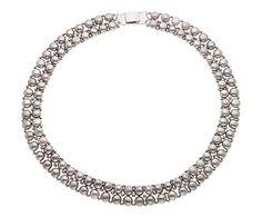 Collana in perle d'acqua dolce Grey Pearls, L 40 cm