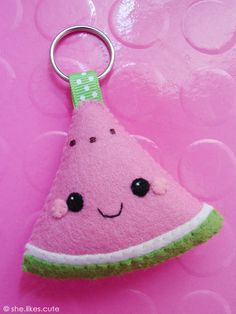 NEW! Happy Melon keychain by she.likes.cute, via Flickr